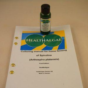 Fresh and Living Spirulina platensis algae start culture (30 ml) for home growing of Spirulina – Spirulina culture starter