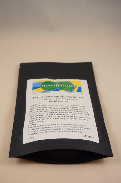 HealthAlgae - 10 liter complete Spirulina platensis grow medium - www.healthalgae.com clean Spirulina grown and produced in Sweden