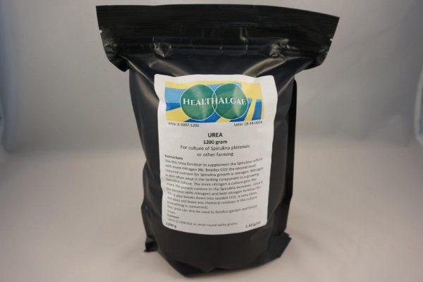 HealthAlgae - 1200 gram UREA - most dense nitrogen fertilizer for Spirulina growing or garden - www.healthalgae.com fresh and clean Spirulina grown and produced in Sweden - grow your own Spirulina - grow your own green vegetable complete protein - grow green meat
