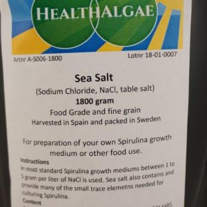 Sea Salt (1800 gram) – Swedish Food Grade and Fine Grain (other names Sodium Chloride, NaCl or table salt)