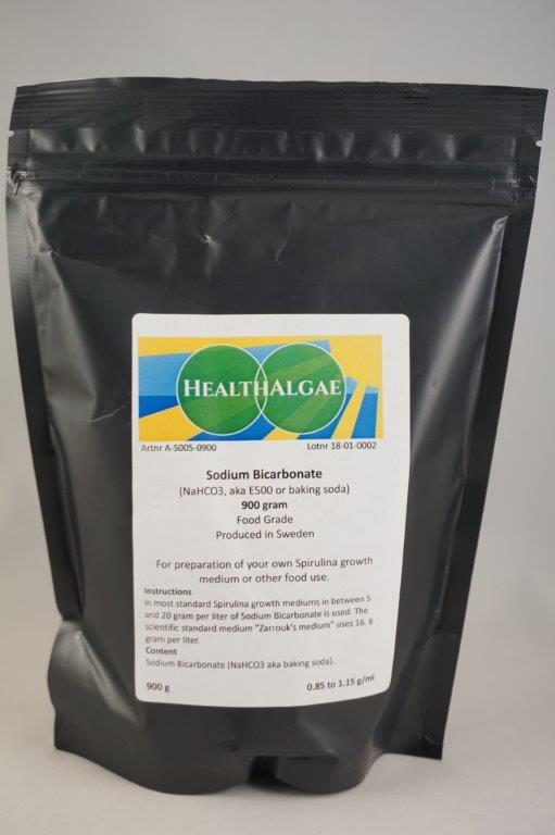 HealthAlgae - 900 gram Sodium bicarbonate, baking soda, E500 - www.healthalgae.com - algae growing in Sweden - Grow your own algae - Grow your own Spirulina - Grow your own green protein