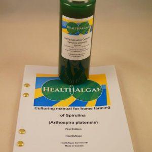 Fresh and Living Spirulina platensis algae start culture (250 ml) for the home growing of Spirulina – Spirulina culture starter