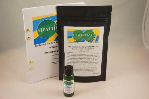HealthAlgae Spirulina platensis starter culture 30 ml and 10L medium