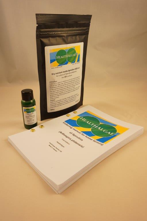 HealthAlgae Spirulina platensis starter culture 30 ml and 10L medium1