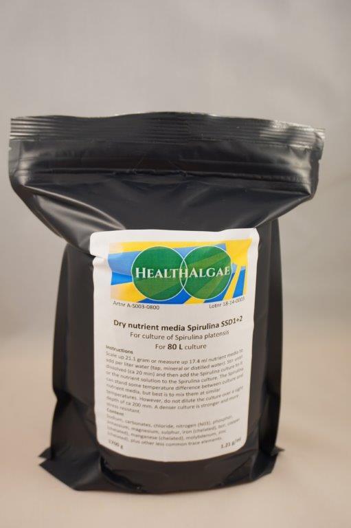 Spirulina platensis complete grow medium 80L - grow your own Spirulina - www.healthalgae.com - HealthAlgae Sweden AB