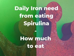 Daily iron need: How much Spirulina must I eat? – Iron content in Spirulina platensis