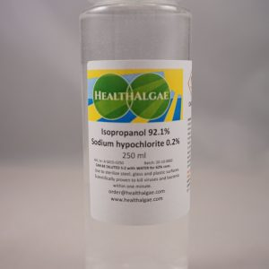 Isopropanol (92.1%) + Sodium Hypochlorite (0.2%) – 250 ml – Antiviral and antibacterial detergent and cleaner