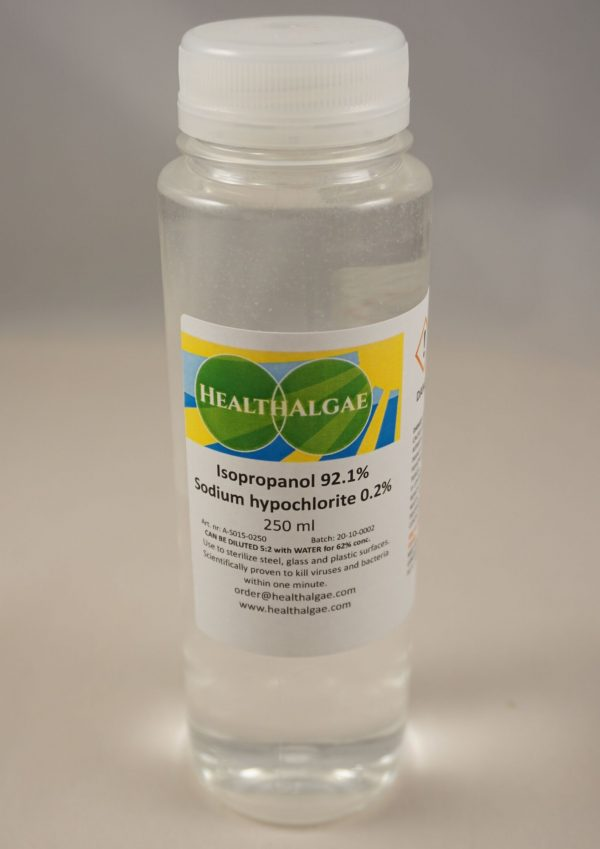 Isopropanol (92.1%) + Sodium Hypochlorite (0.2%) - 250 ml - Antiviral and antibacterial