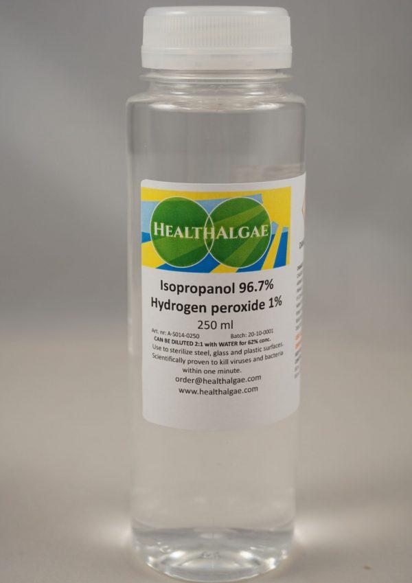 Isopropanol (96.7%) + hydrogen peroxide virus (corona) detergent and cleaner - HealthAlgae
