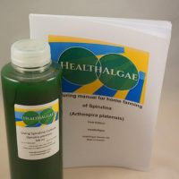 HealthAlgae Spirulina platensis starter culture 500 ml and grow manual - www.healthalgae.com clean Spirulina grown and produced in Sweden